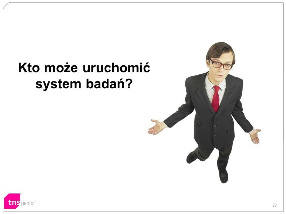 Kto może uruchomić system badań