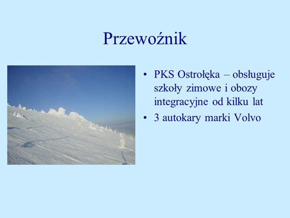 Przewoźnik PKS Ostrołęka – obsługuje szkoły zimowe i obozy integracyjne od kilku lat.