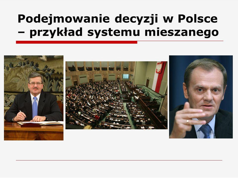 Podejmowanie decyzji w Polsce – przykład systemu mieszanego
