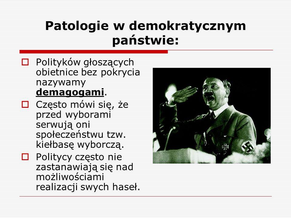 Patologie w demokratycznym państwie: