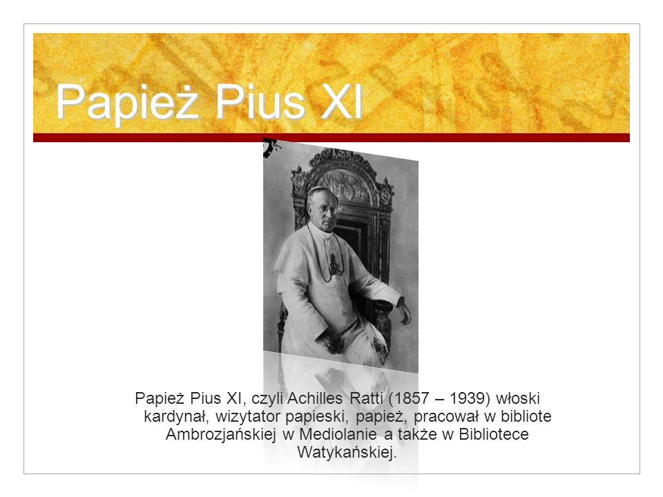 Papież Pius XI