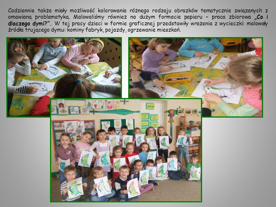 Codziennie także miały możliwość kolorowania różnego rodzaju obrazków tematycznie związanych z omawianą problematyką.