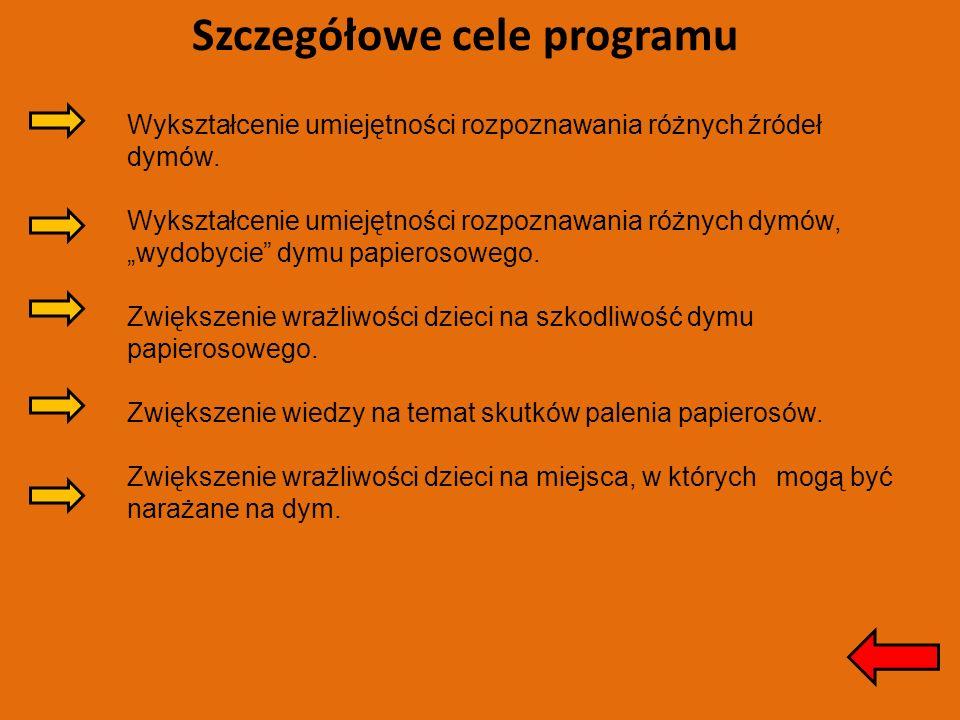 Szczegółowe cele programu