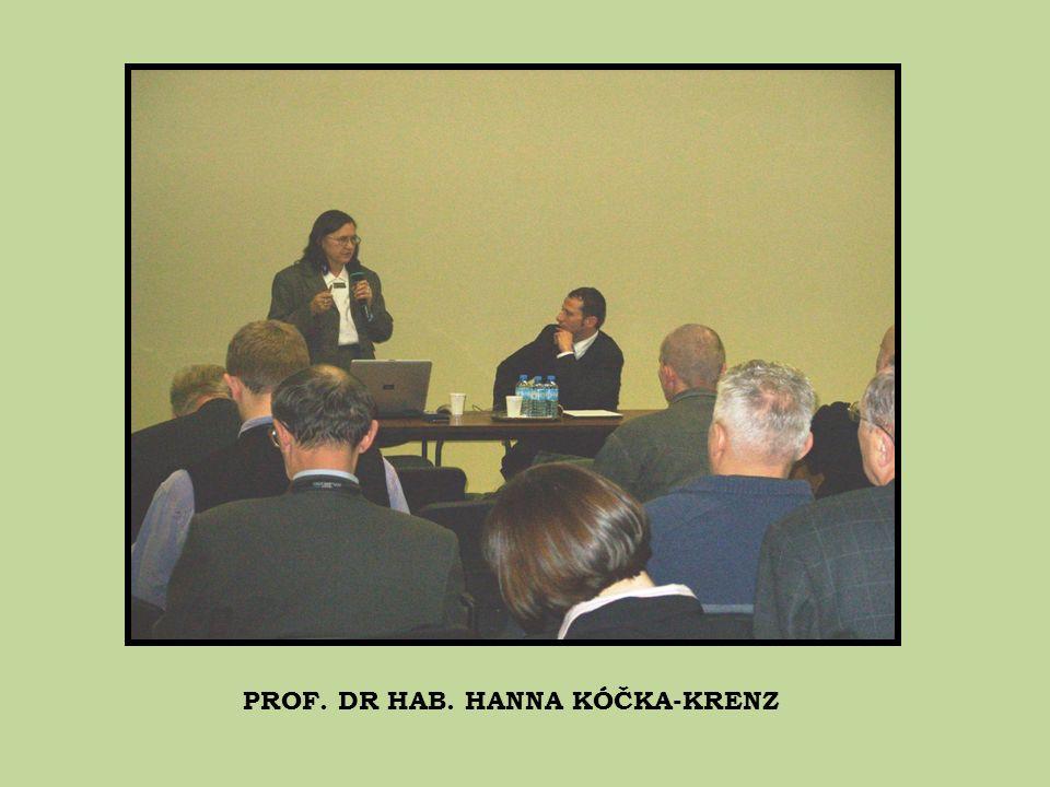 PROF. DR HAB. HANNA KÓČKA-KRENZ