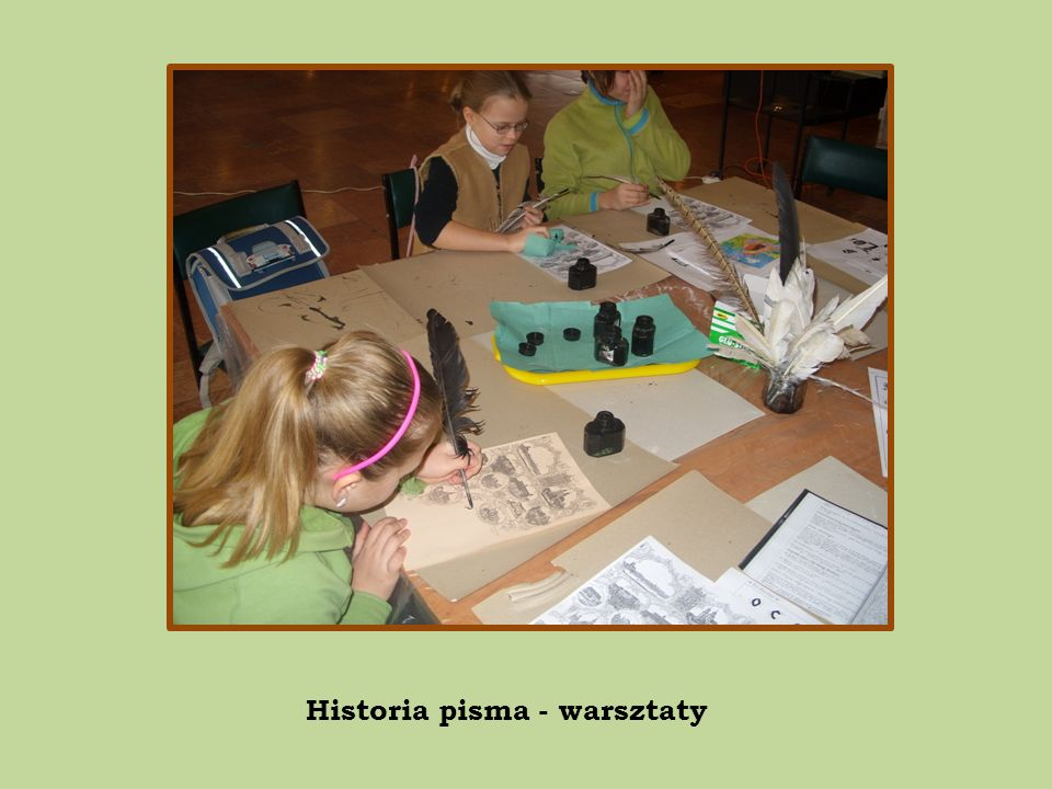 Historia pisma - warsztaty