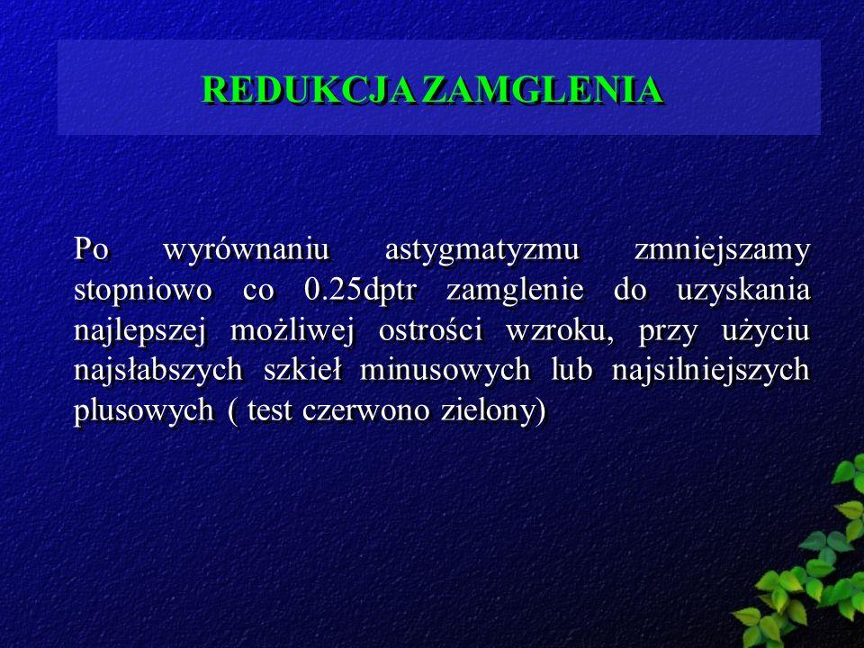 REDUKCJA ZAMGLENIA