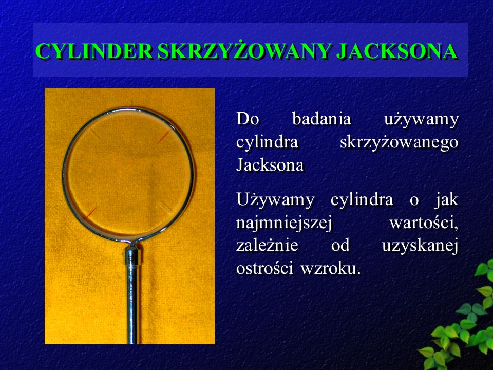 CYLINDER SKRZYŻOWANY JACKSONA