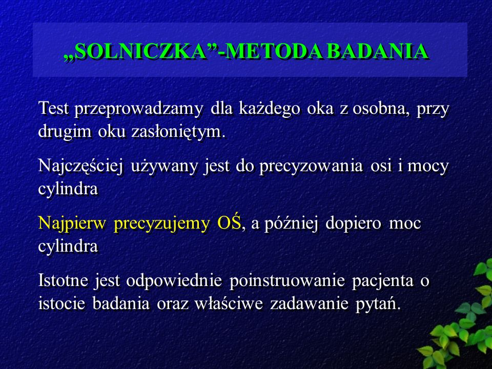 """""""SOLNICZKA -METODA BADANIA"""