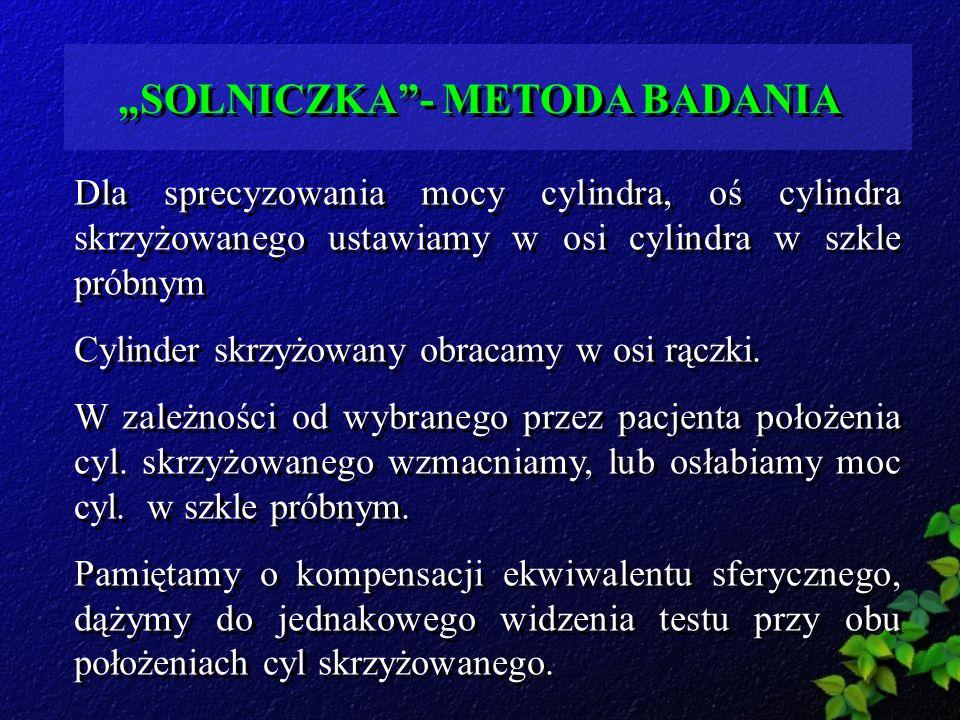 """""""SOLNICZKA - METODA BADANIA"""