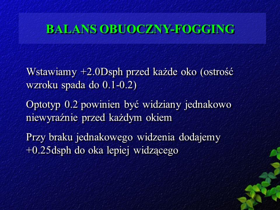 BALANS OBUOCZNY-FOGGING