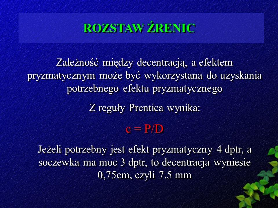 Z reguły Prentica wynika: