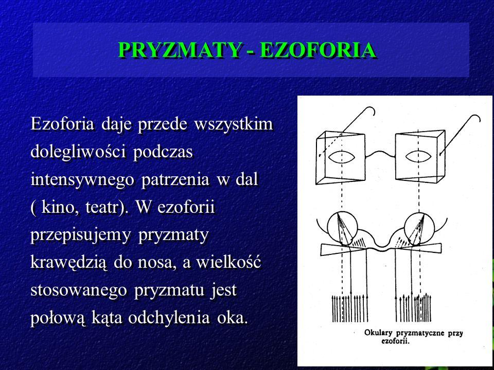 PRYZMATY - EZOFORIA Ezoforia daje przede wszystkim dolegliwości podczas intensywnego patrzenia w dal.