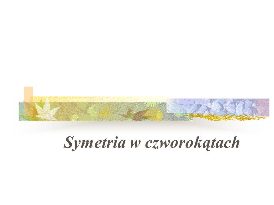 Symetria w czworokątach