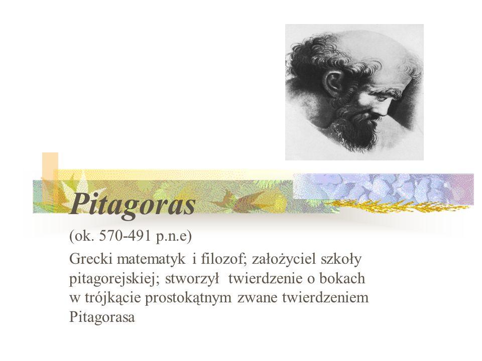 Pitagoras (ok. 570-491 p.n.e)