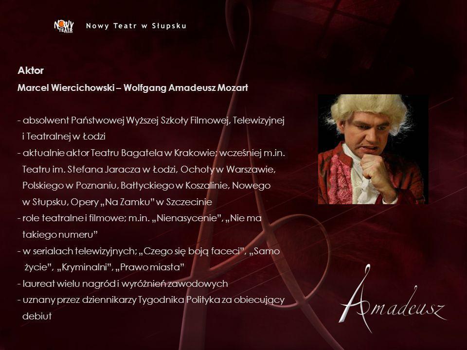 Aktor Marcel Wiercichowski – Wolfgang Amadeusz Mozart