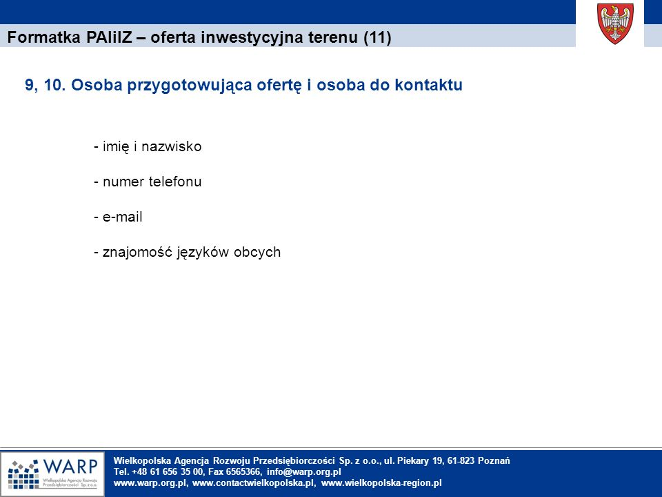 Formatka PAIiIZ – oferta inwestycyjna terenu (11)