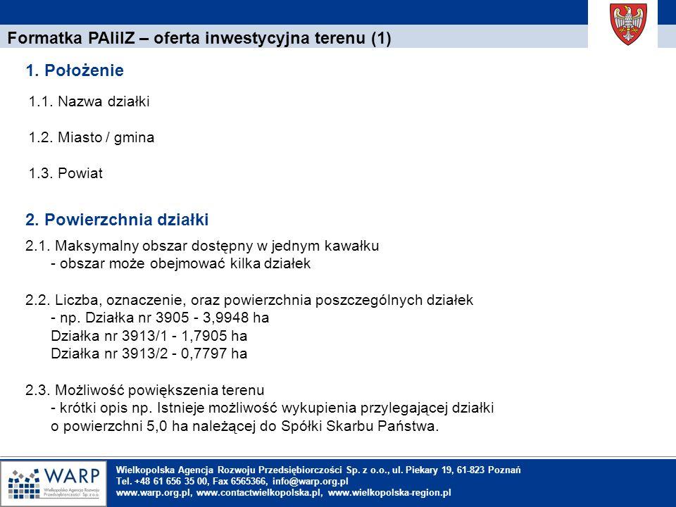 Formatka PAIiIZ – oferta inwestycyjna terenu (1)