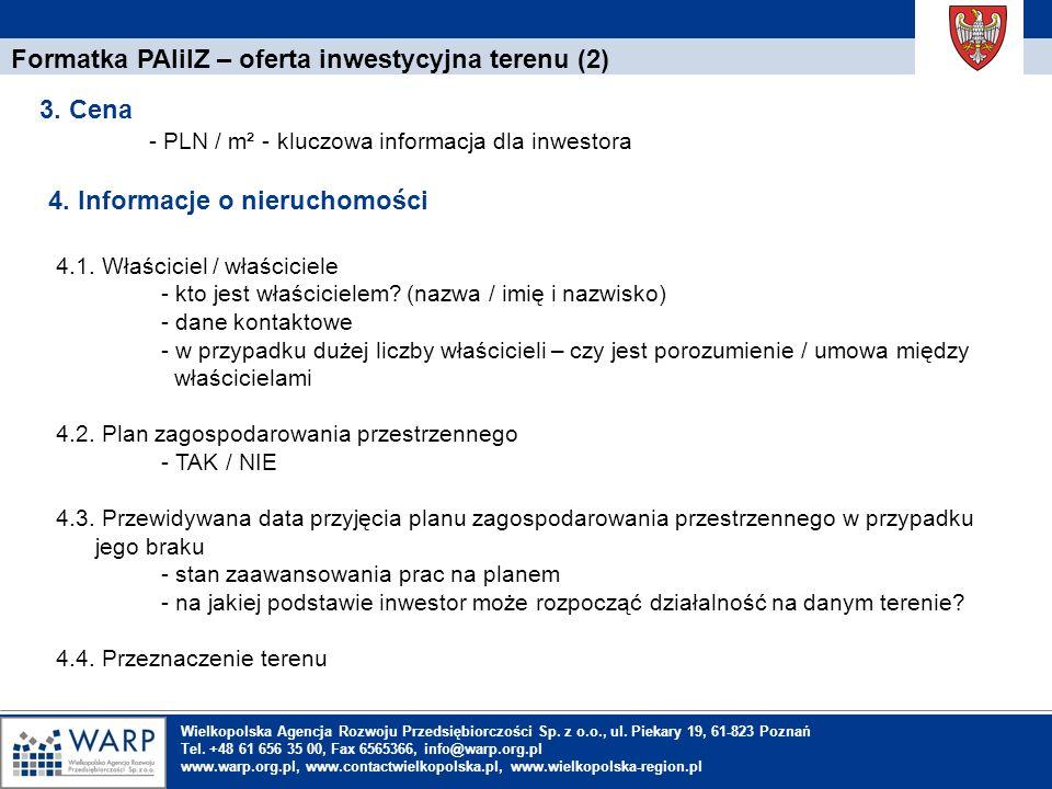 Formatka PAIiIZ – oferta inwestycyjna terenu (2)