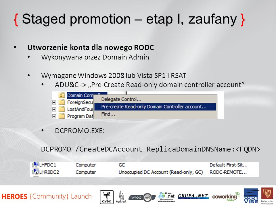{ Staged promotion – etap I, zaufany }