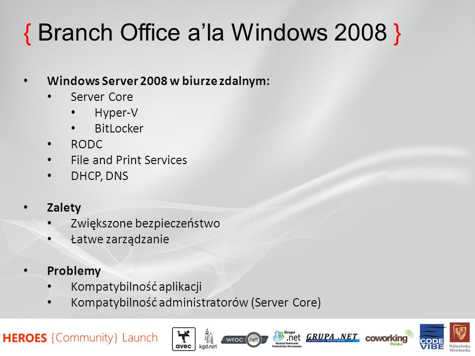 { Branch Office a'la Windows 2008 }