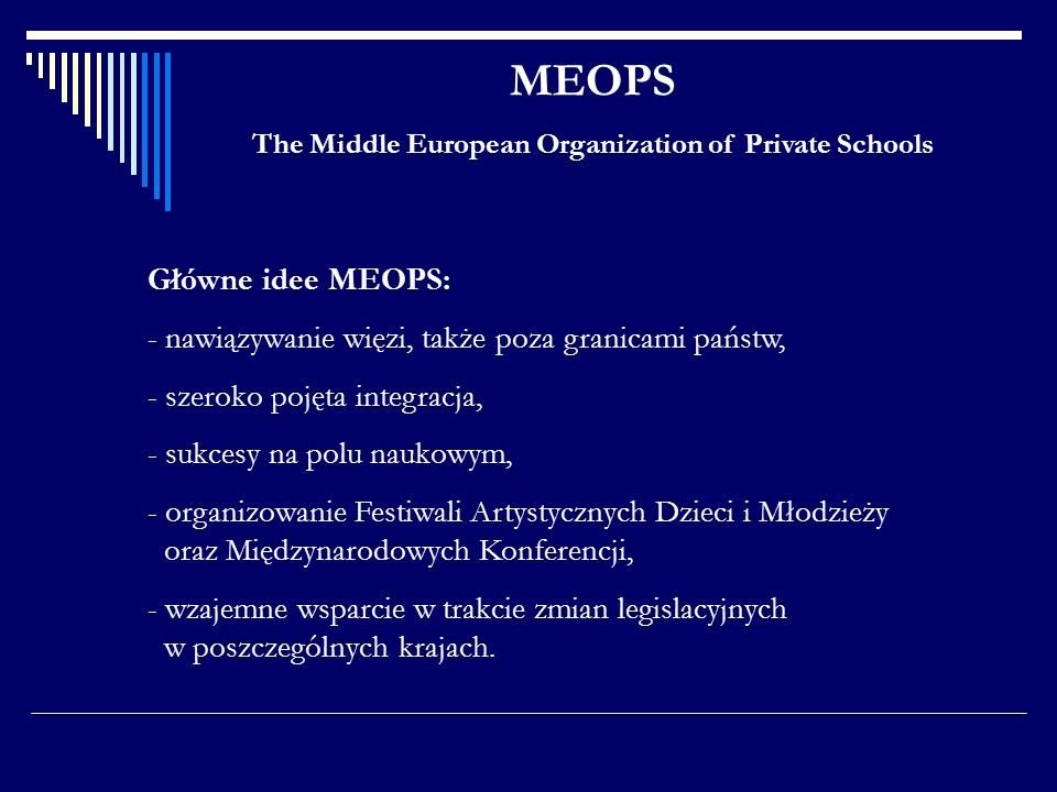 The Middle European Organization of Private Schools