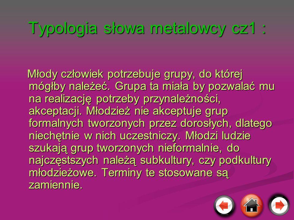 Typologia słowa metalowcy cz1 :