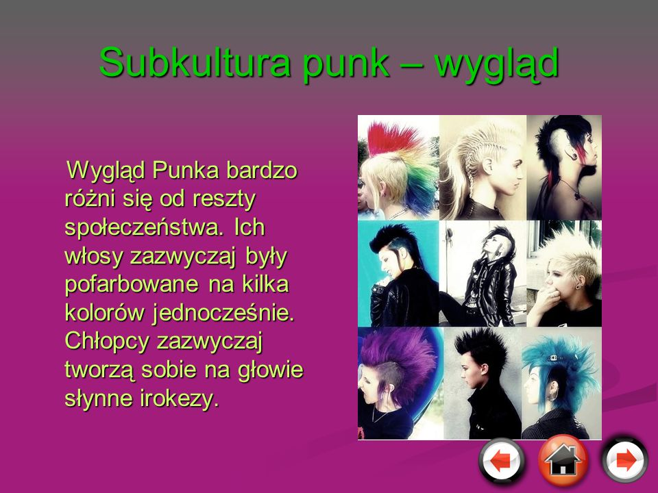 Subkultura punk – wygląd