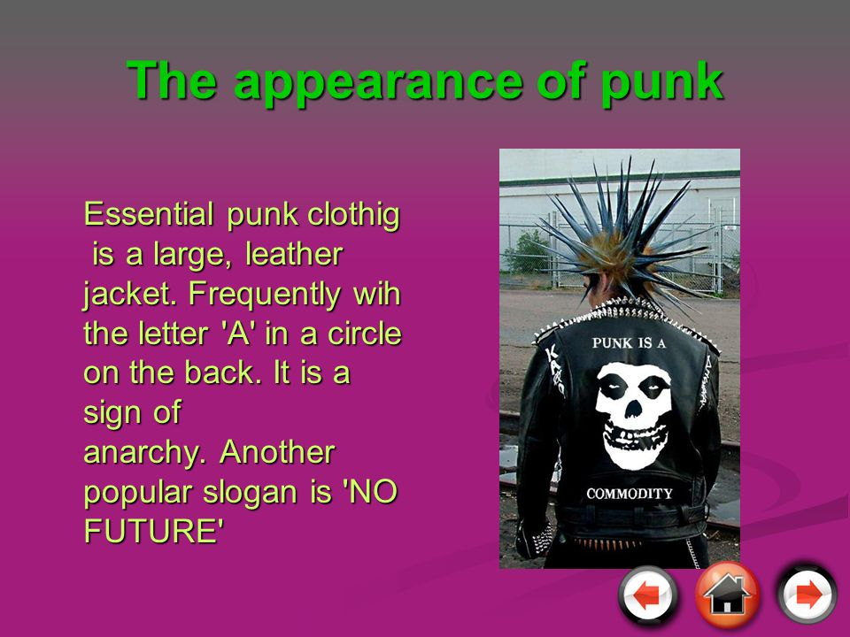 The appearance of punk