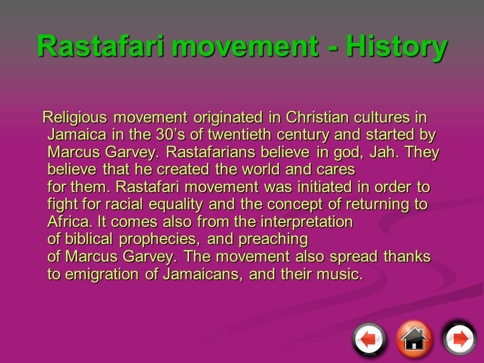 Rastafari movement - History