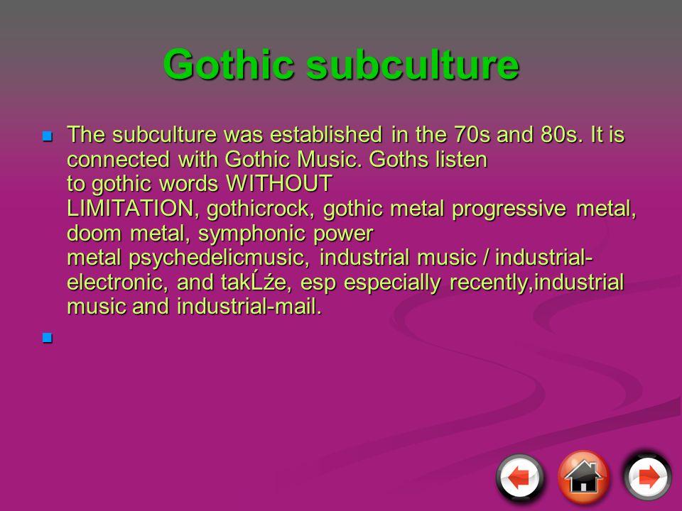 Gothic subculture