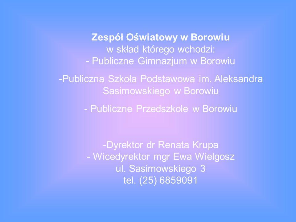 Publiczna Szkoła Podstawowa im. Aleksandra Sasimowskiego w Borowiu