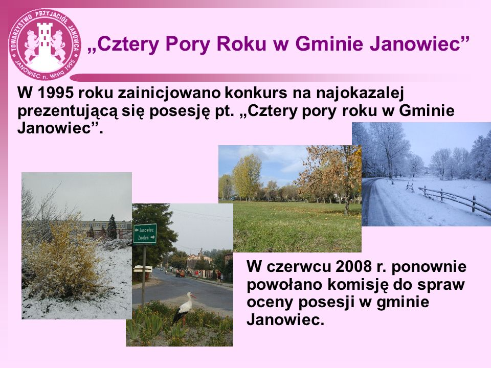 """""""Cztery Pory Roku w Gminie Janowiec"""