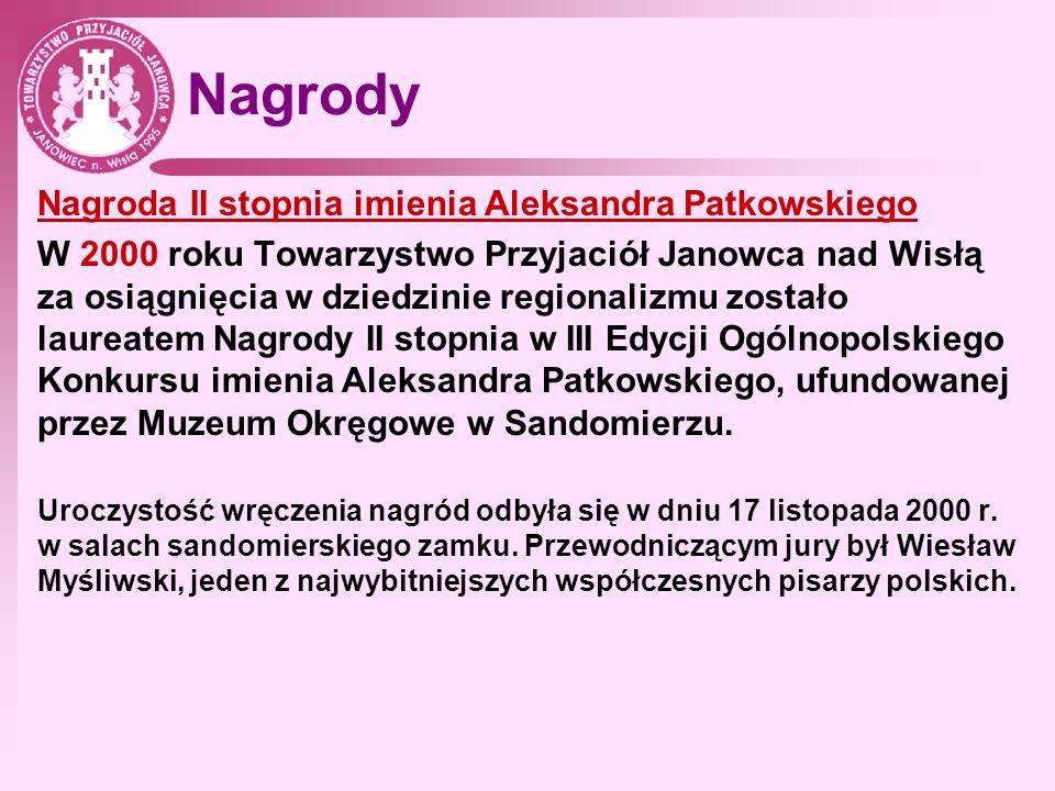 Nagrody Nagroda II stopnia imienia Aleksandra Patkowskiego