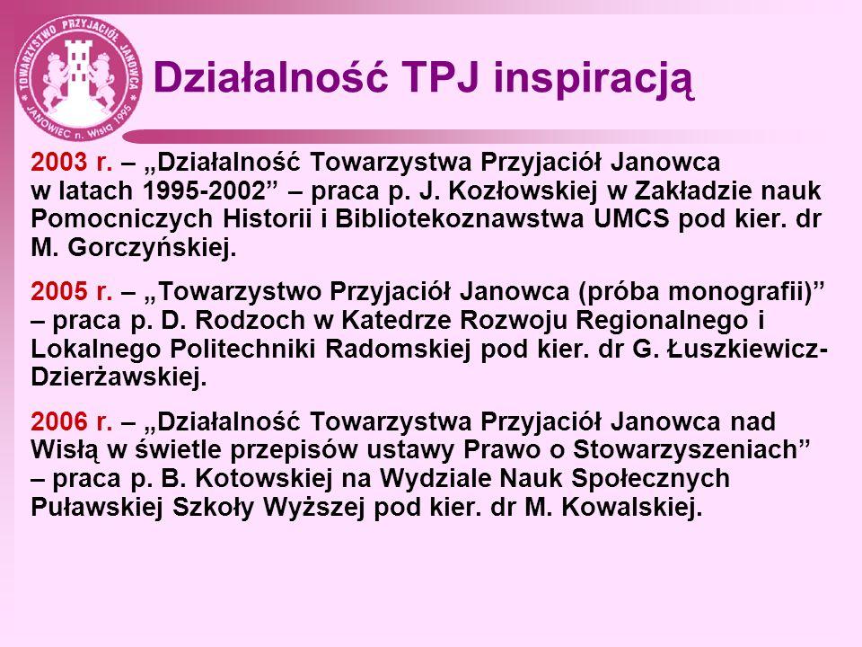 Działalność TPJ inspiracją