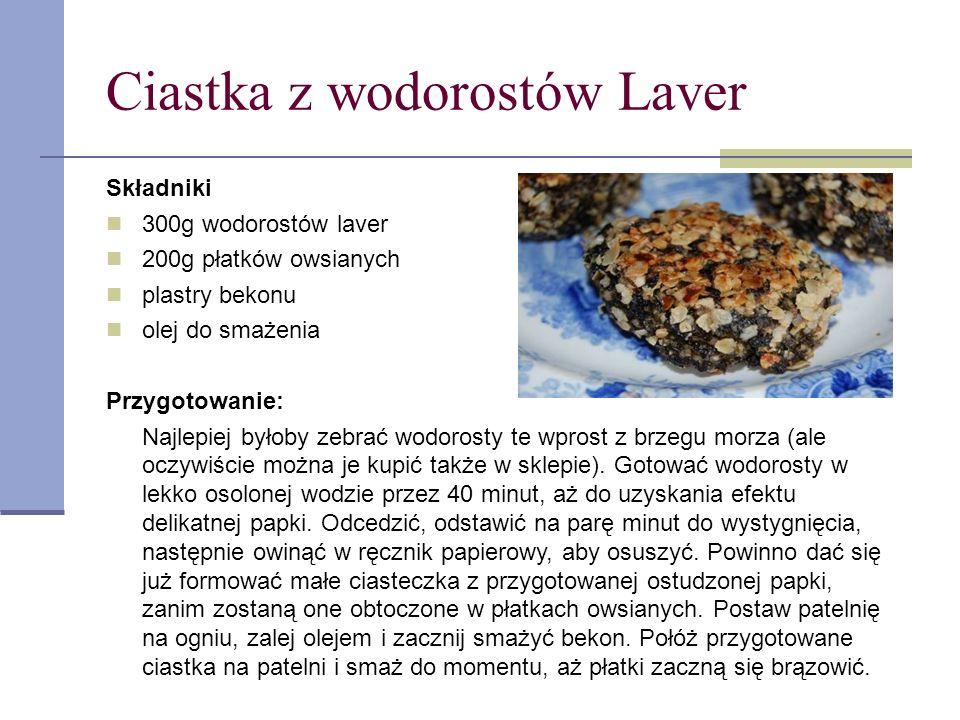 Ciastka z wodorostów Laver
