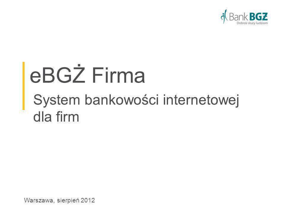 System bankowości internetowej dla firm
