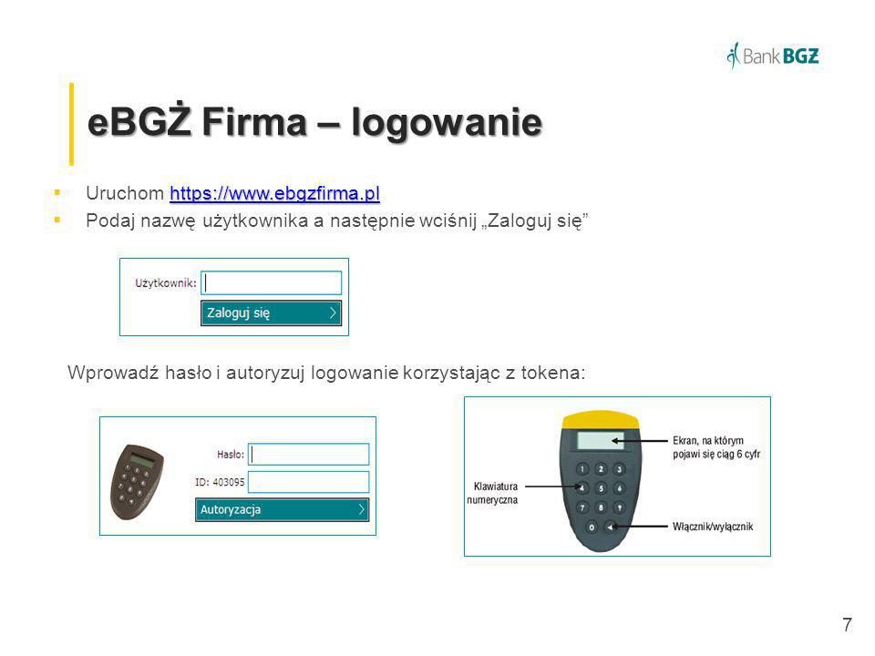 eBGŻ Firma – logowanie Uruchom https://www.ebgzfirma.pl