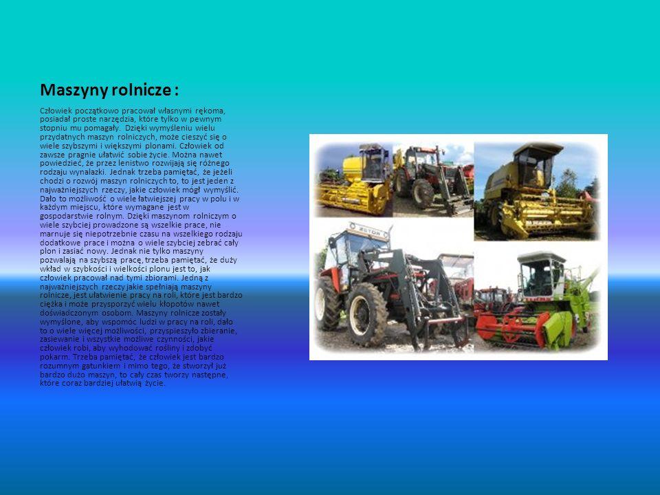 Maszyny rolnicze :