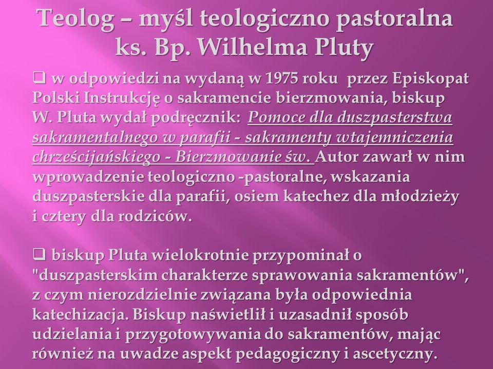 Teolog – myśl teologiczno pastoralna
