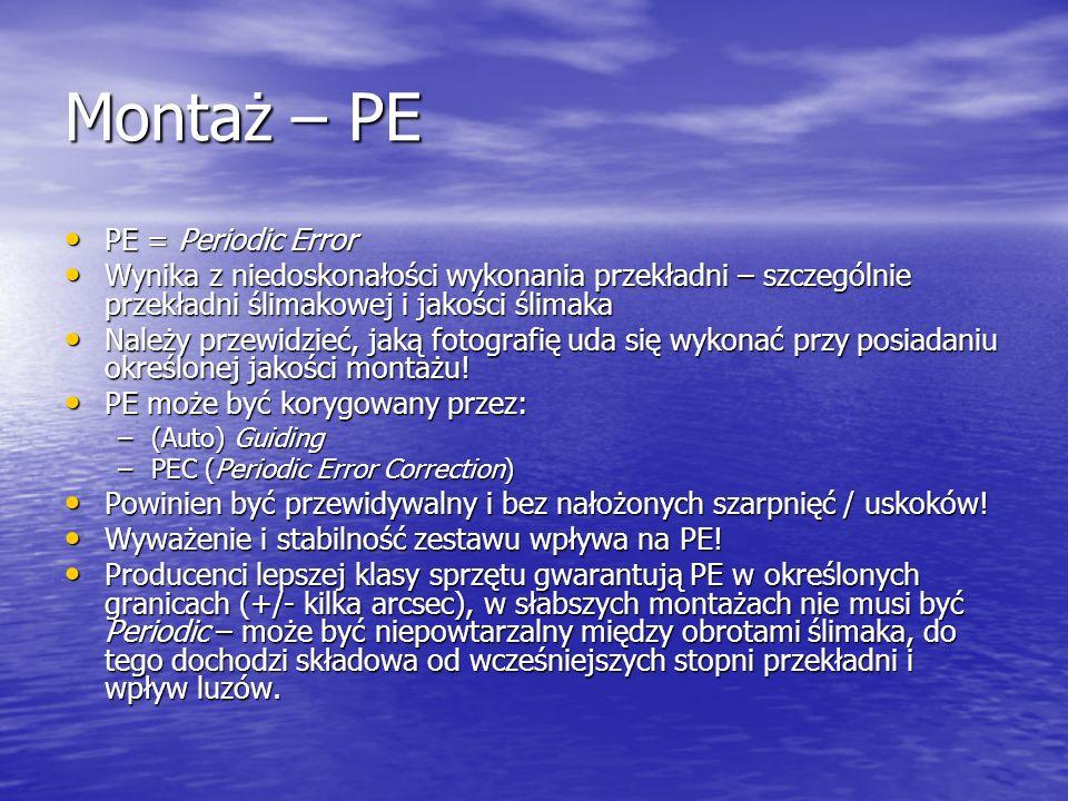 Montaż – PE PE = Periodic Error
