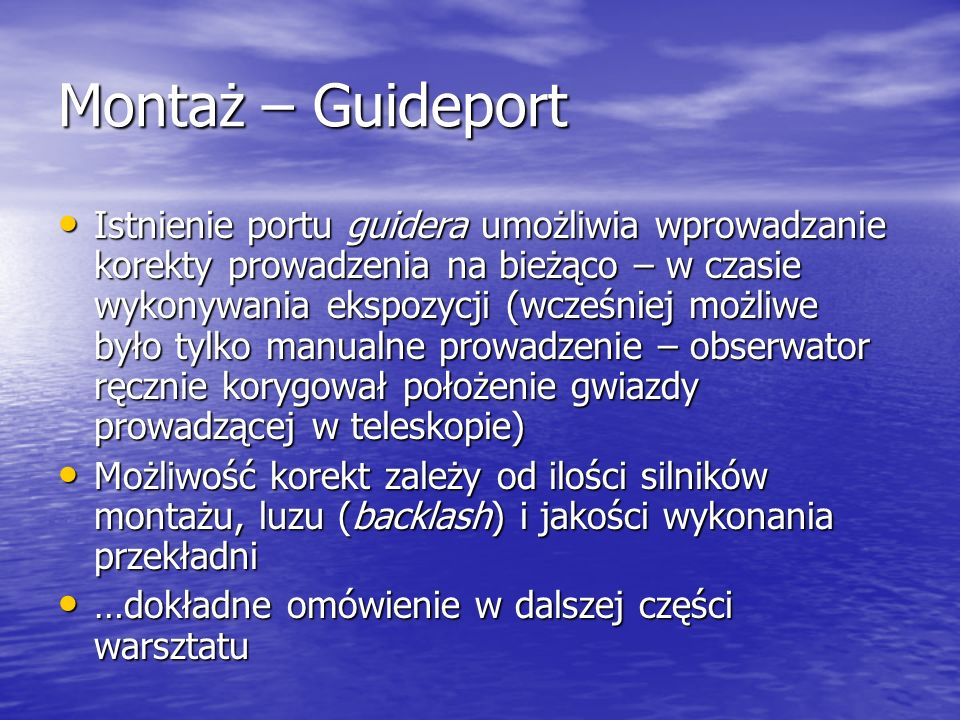 Montaż – Guideport