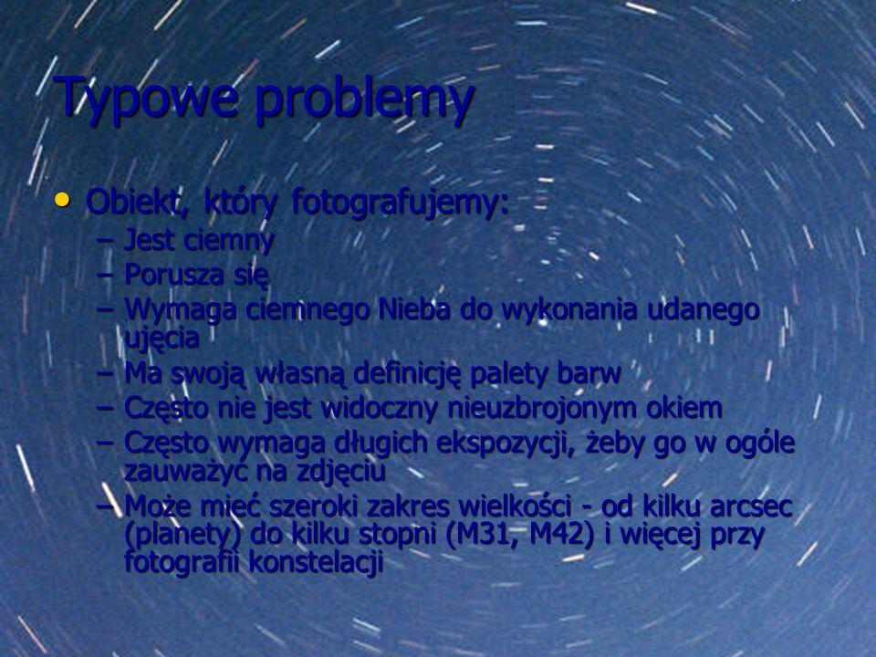 Typowe problemy Obiekt, który fotografujemy: Jest ciemny Porusza się