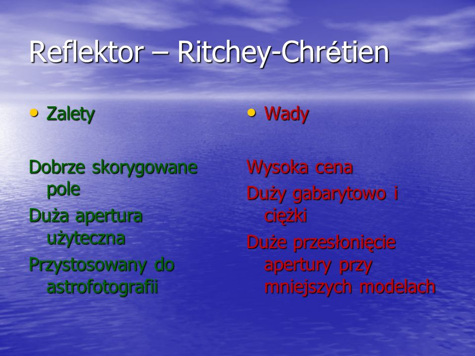 Reflektor – Ritchey-Chrétien