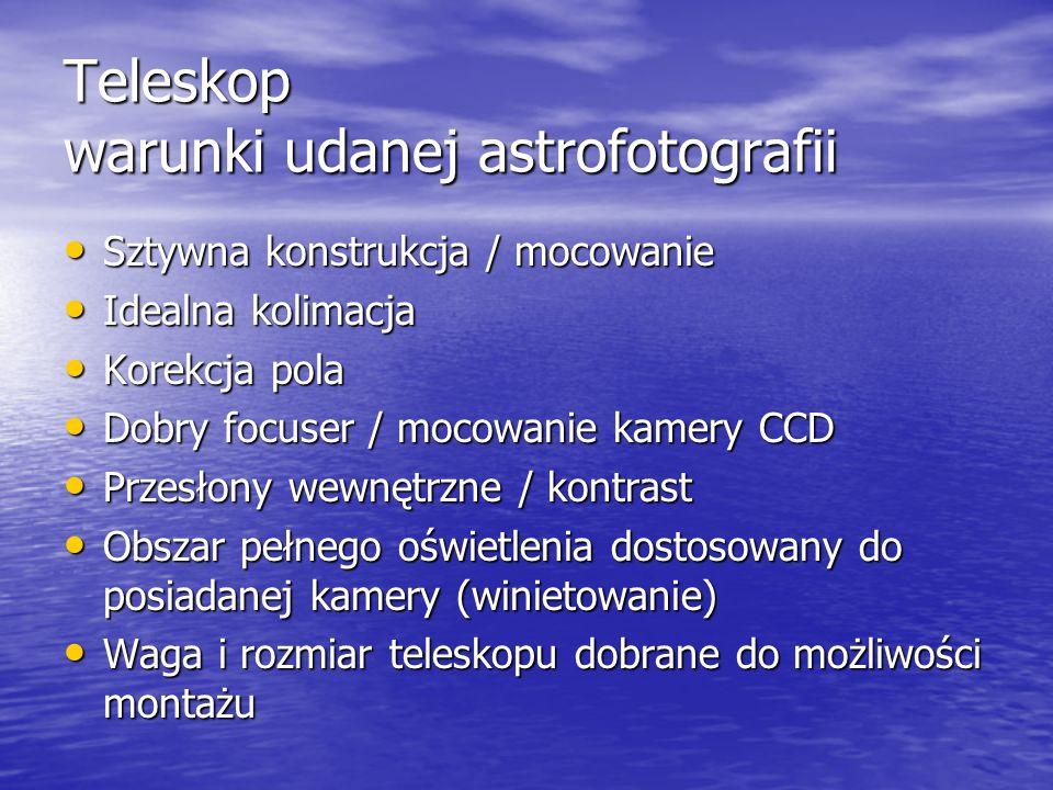 Teleskop warunki udanej astrofotografii
