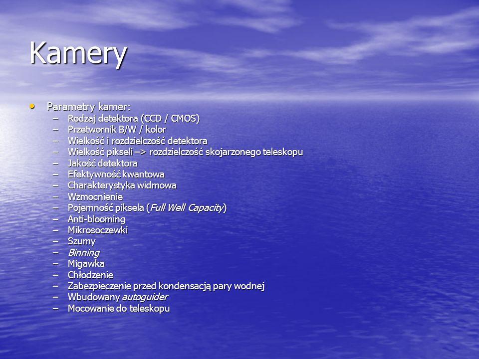 Kamery Parametry kamer: Rodzaj detektora (CCD / CMOS)
