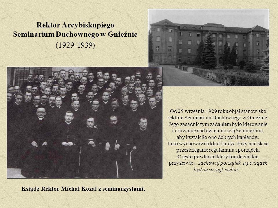 Rektor Arcybiskupiego Seminarium Duchownego w Gnieźnie (1929-1939)
