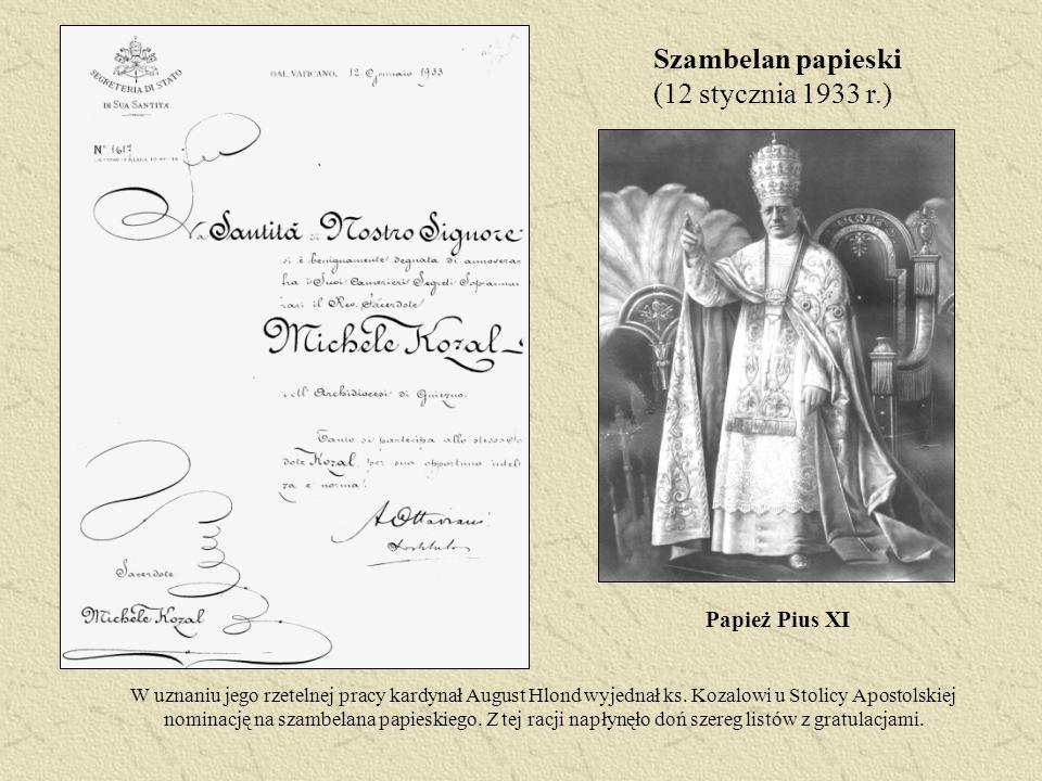 Szambelan papieski (12 stycznia 1933 r.)