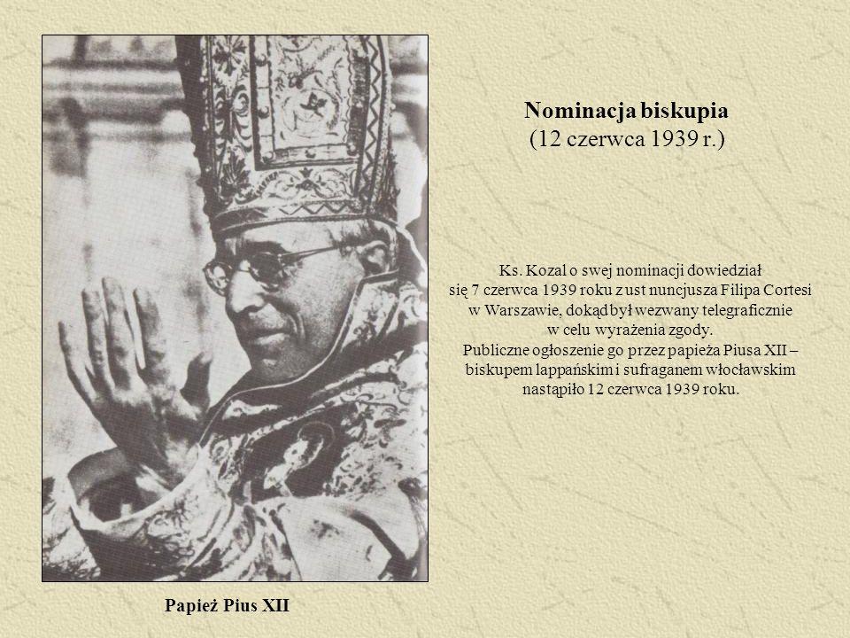 Nominacja biskupia (12 czerwca 1939 r.)