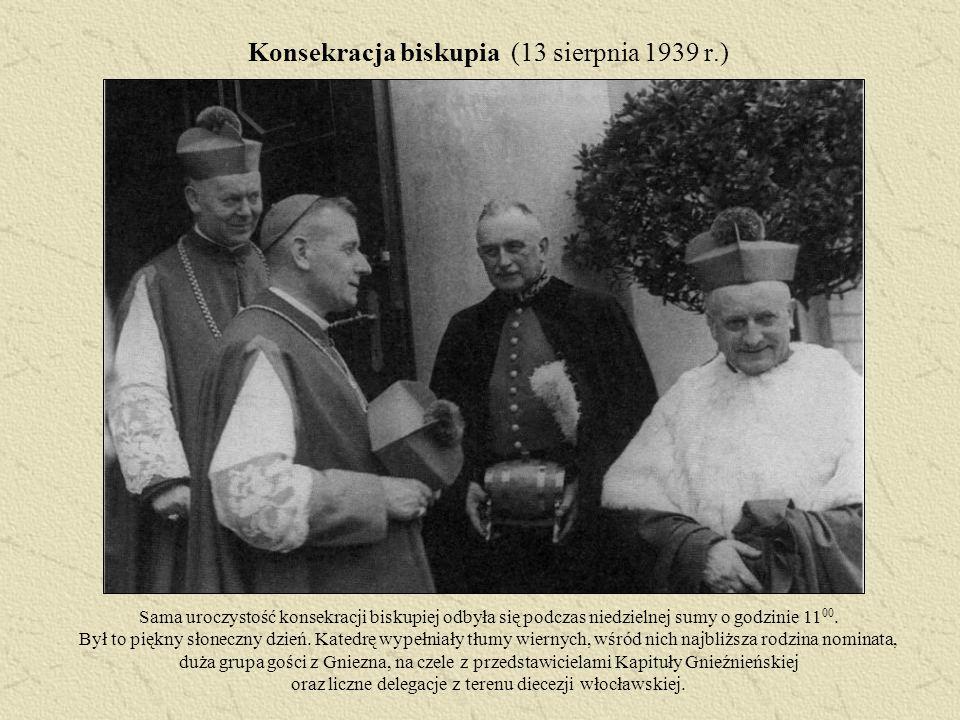 Konsekracja biskupia (13 sierpnia 1939 r.)