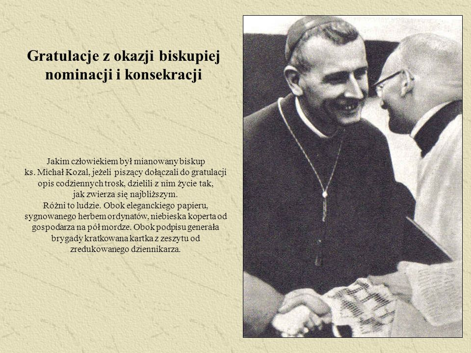 Gratulacje z okazji biskupiej nominacji i konsekracji